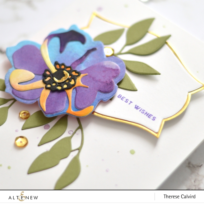 Altenew - Virginia Rose 3D Die - Nesting Labels Die - Therese Calvird (card) 1 copy