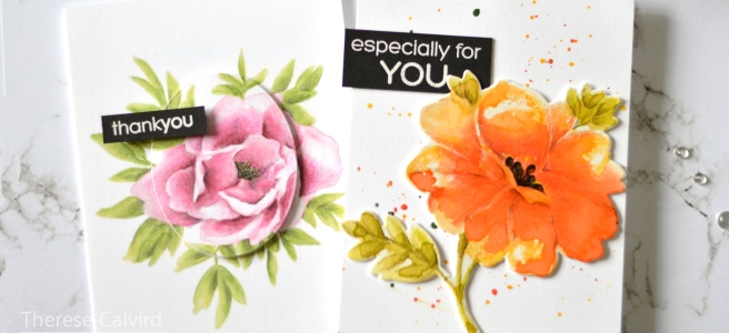 Lostinpaper - Gimme 5 Penny Black - Prismacolor Flowers (card video) 2