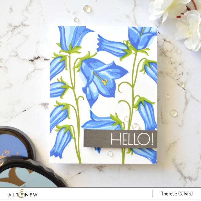 Altenew - BAF Bellflower - Geometric Flowers - Therese Calvird (card video) 1 copy