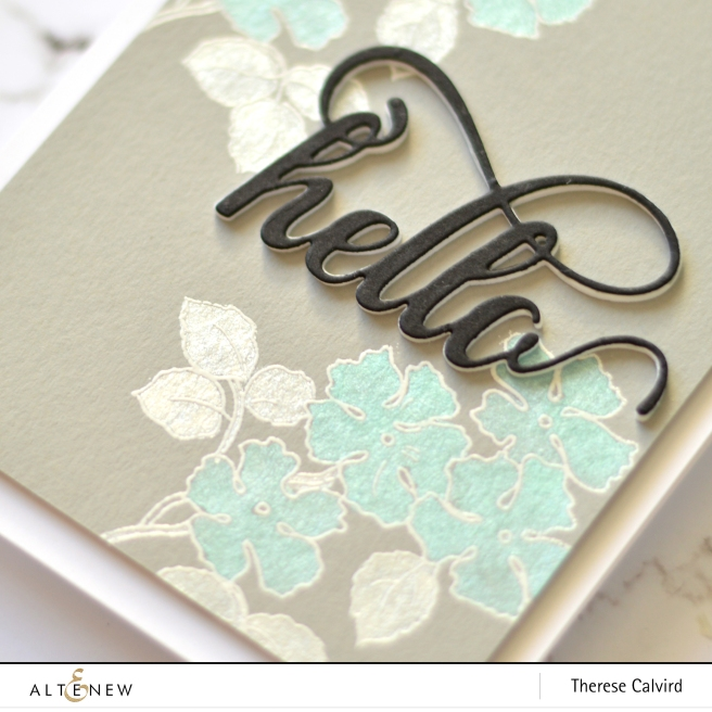 Altenew - Metallic Watercolor Palette - Ruffled Flowers - Therese Calvird (card video) 1 copy