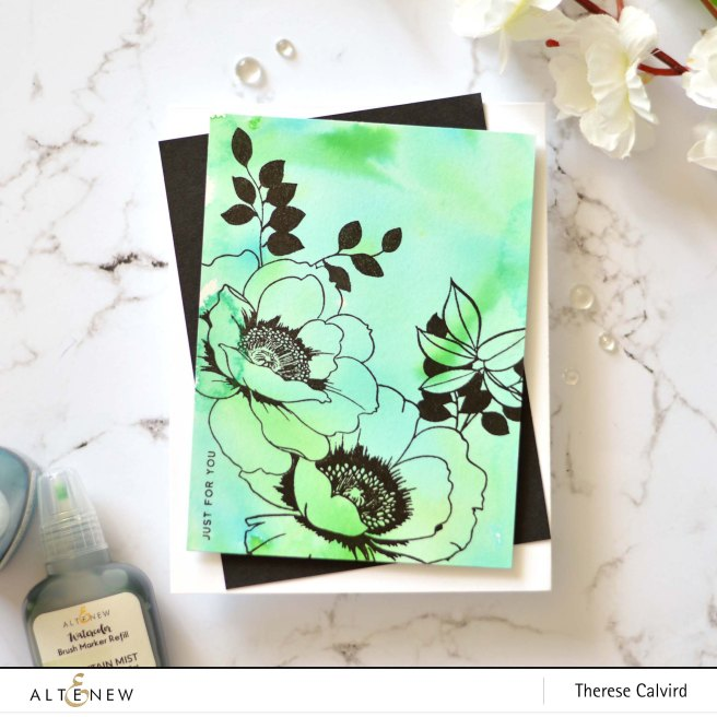 Altenew - Wallpaper Art - Waterbrush Marker Refill - Therese Calvird (card) 1 copy