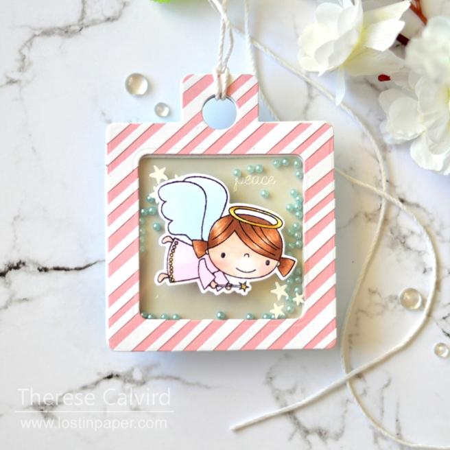 Lostinpaper - Reverse Confetti - Joyous Holiday (shaker tag) 1