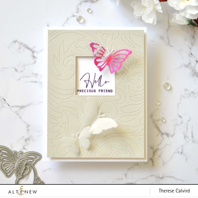 Altenew - Mix & Match Mariposa Die - Stone Mosaic - Therese Calvird (card) 1 copy