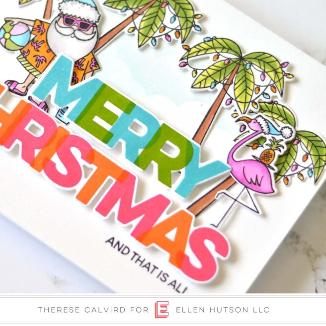 Lostinpaper - MFT - EH Christmas Sun Lovin Santa (card video) 1 copy