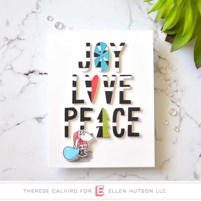 Lostinpaper - MFT - EH Joy Love Peace (card) 1 copy