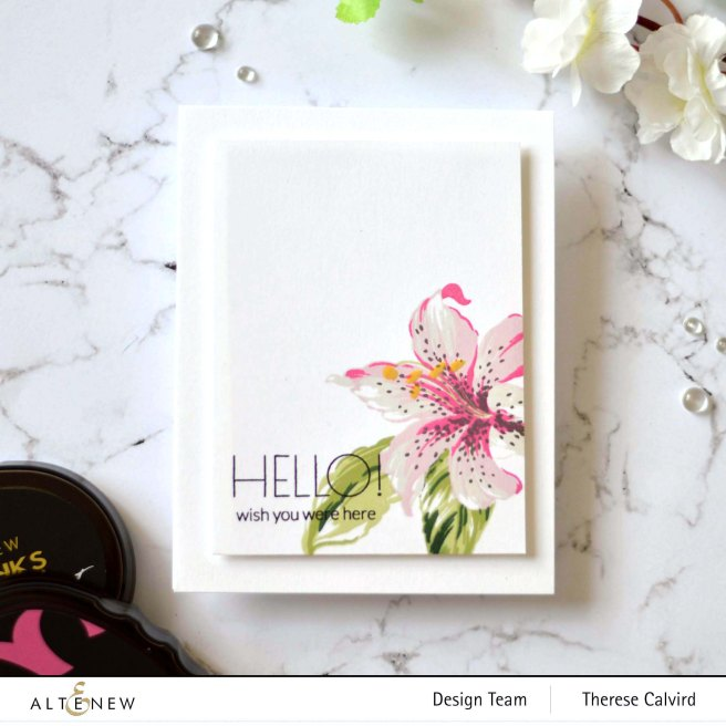 Altenew - Build-A-Flower Stargazer - Therese Calvird (card video) 1 copy