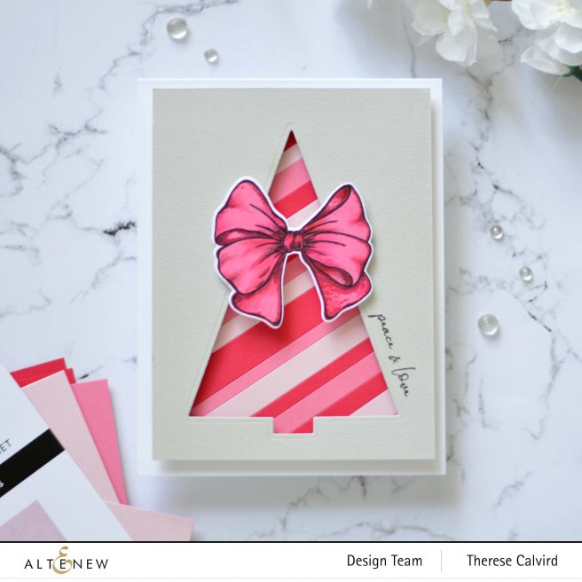 Altenew - Festive Foliage - Gradient Cardstock - Take 2 With Therese (card video) 3 copy