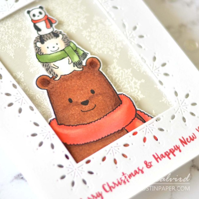 Same But Different Christmas Card Series - Penny Black - Snowflake Pattern 5 Ways - Therese Calvird (card video) 1