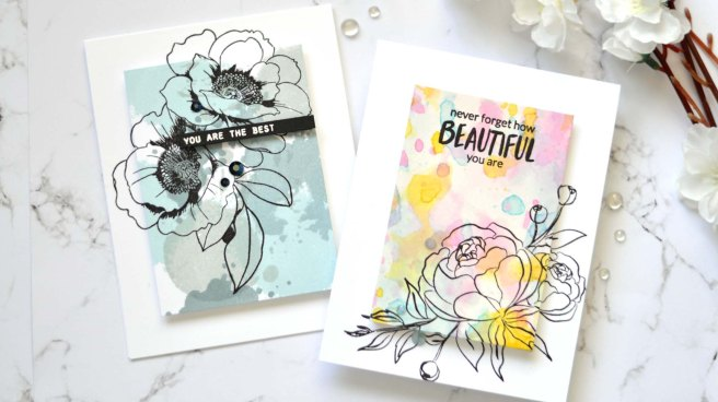 Altenew - Precious Peony - Wallpaper Art - Take 2 With Therese (card video) 1