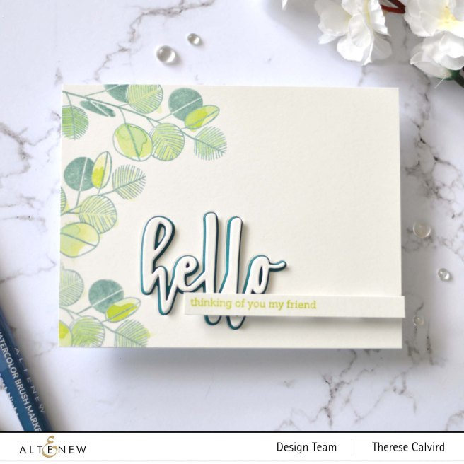 Altenew - Retro Plantines - Hello and Hugs - Therese Calvird (card) 2 copy
