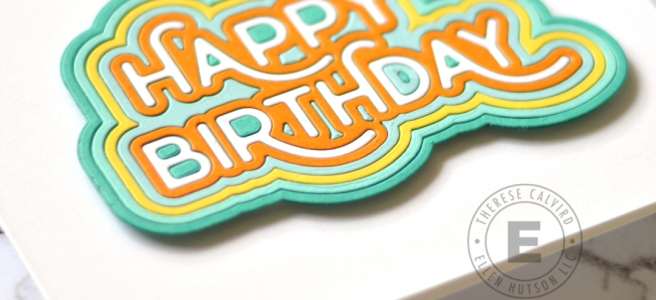 Lostinpaper - Waffle Flower Crafts - Rainbow Birthday Die (card) 1