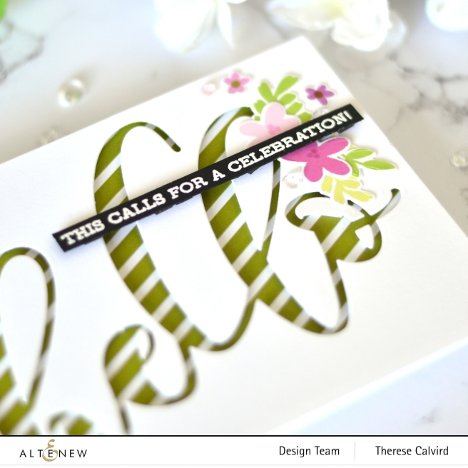 Altenew - Sentiment Strips 2 - Spring Fling - A Love For Stripes - Take 2 With Therese (card video) 5 copy
