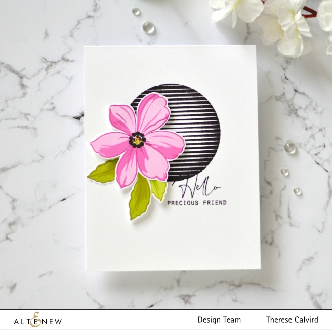 Altenew - Spheres & Spirals - Fabulous Florets - Therese Calvird (card) 1 copy