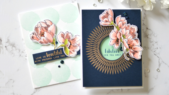 Altenew - Spheres & Spirals - Pen Sketched Flowers - Take 2 With Therese (card video) 7 copy
