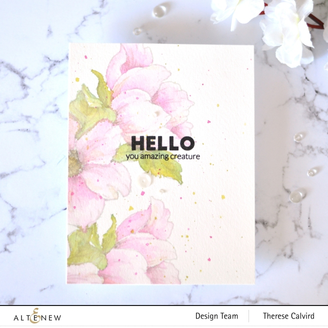 Altenew - Statement Flowers - Simply the Best - Therese Calvird (card video) 3 copy