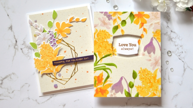 Altenew - Vase Fillers - Crystal Frames - Take 2 With Therese (card video) 1