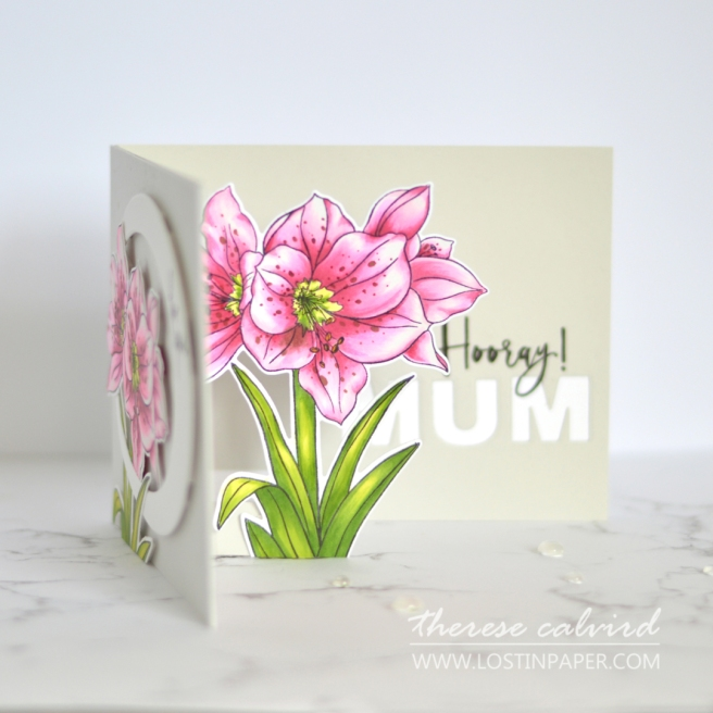 How to Make an Easy Pop Up Card - Therese Calvird - Ellen Hutson - Mothers Day (card video) 1 - Copy