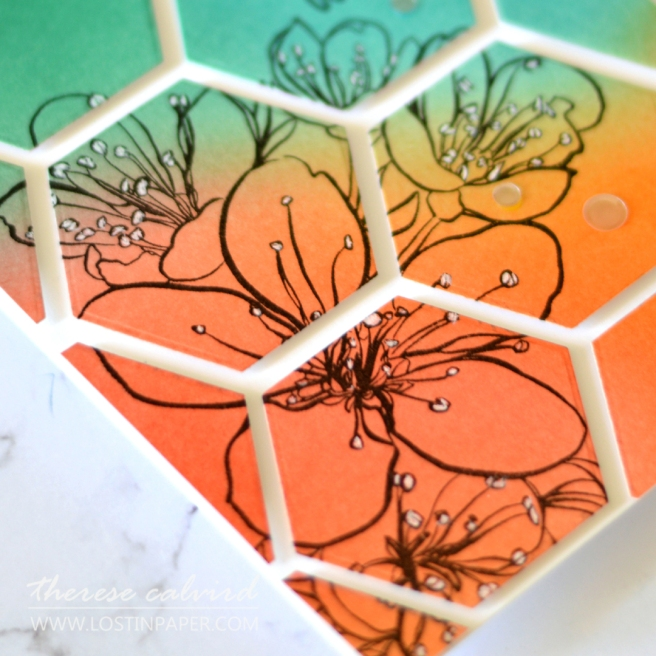 Lostinpaper - Ellen Hutson - Mondo Sakura - Hex Frames (card video) 3