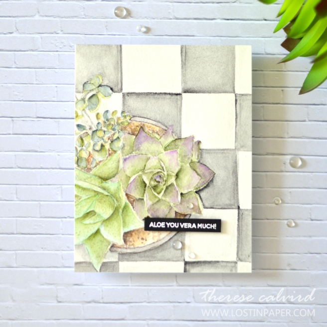 Lostinpaper - Mondo Succulent Pot - Ellen Hutson (card video) 1