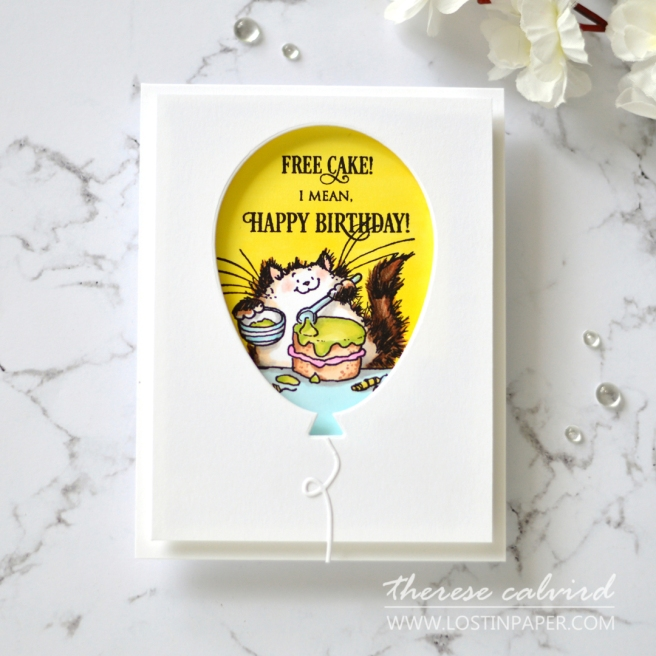 Penny Black Gimme 5 - Critter Balloons - Therese Calvird (card video) 1
