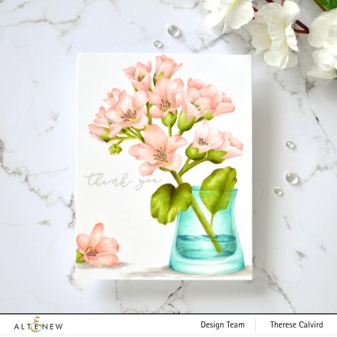 Altenew - Bergenia Builder - Apothecary Labels - Versatile Vases - Therese Calvird (card) 2 copy