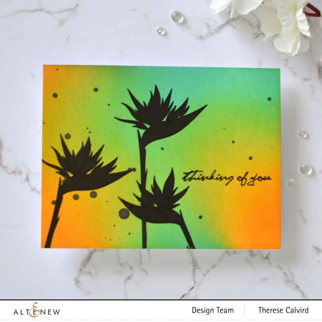 Altenew - Bird of Paradise - Ink Blending Tool - Therese Calvird (card video) 2 copy