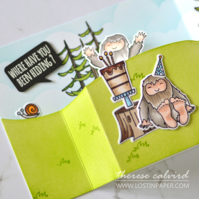 How to Make a Pop Up Wiper Card - Ellen Hutson - Therese Calvird (card video) 1