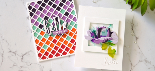 Altenew - Garden Trellis Cover Die - Hello and Hugs - Open Bloom 3D Die - Take 2 With Therese