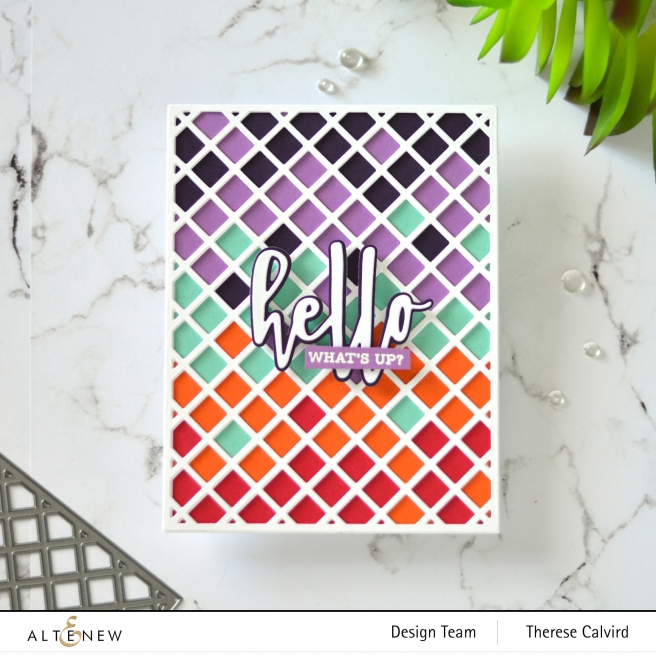 Altenew - Garden Trellis Cover Die - Hello and Hugs - Sentiment Strips 2 1 copy