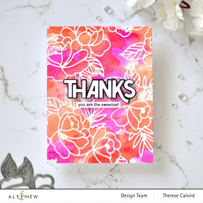 Altenew - Spring Roses - Bold Thanks - Therese Calvird (card) 1 copy