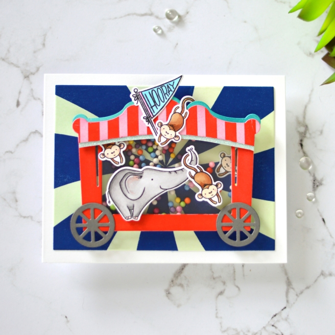 Lostinpaper - Ellen Hutson - Life is a Circus - Shaker Card (card video) 3