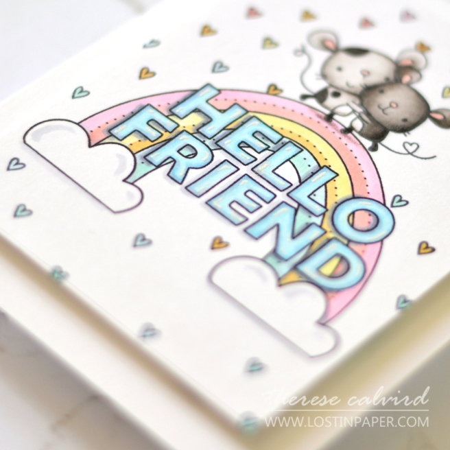 Lostinpaper - Reverse Confetti - Huggable - Hello Friend (card video) 1