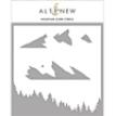 Mountain Scene Stencil