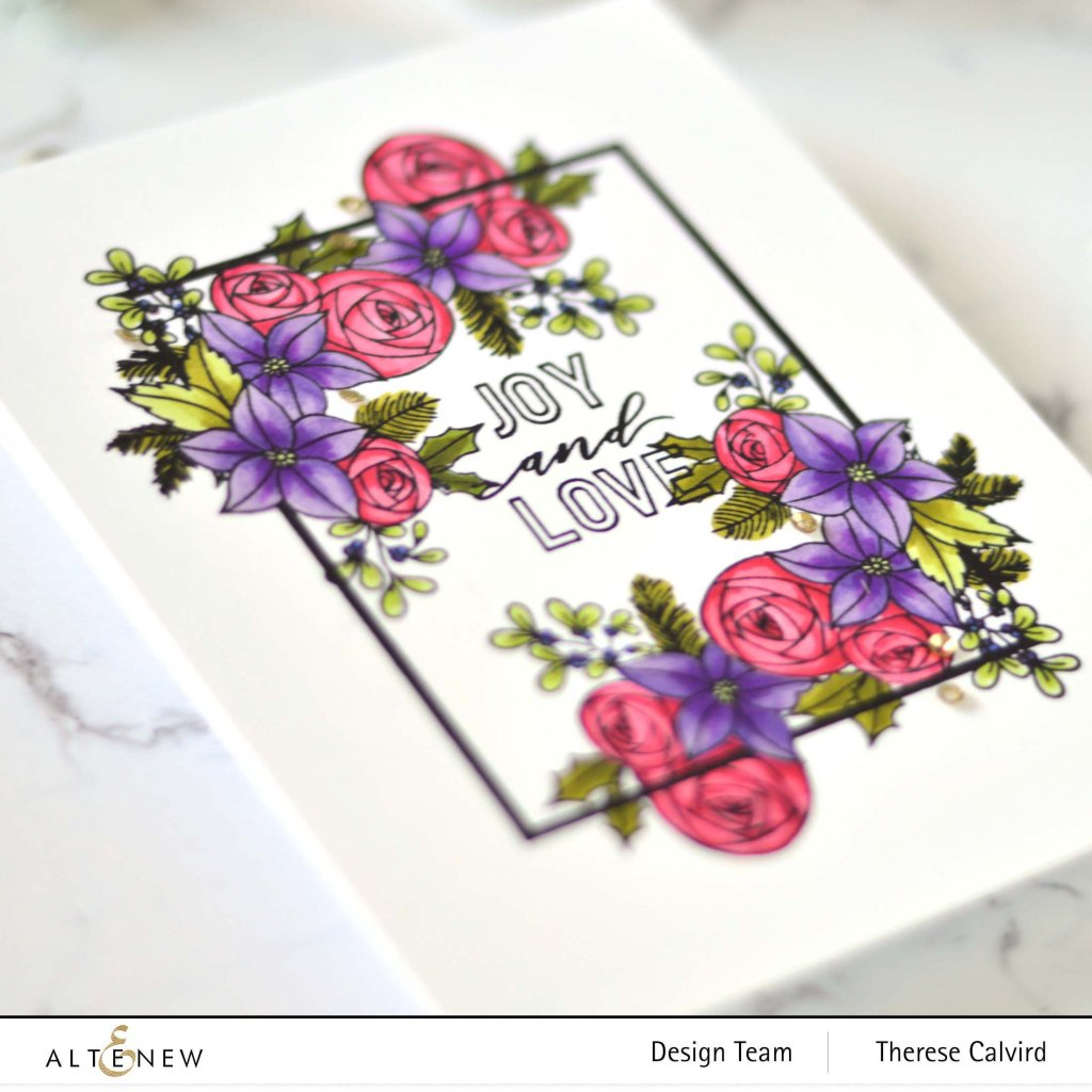 Altenew - Festive Floral Frame - Holiday Tag Sentiments (card) 2 copy