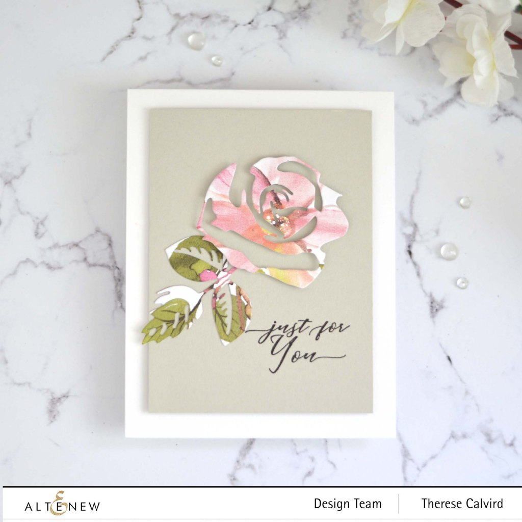 Therese Calvird - Altenew - Craft-A-Flower - Rose - Holiday Tag Sentiments (card video) 1 copy