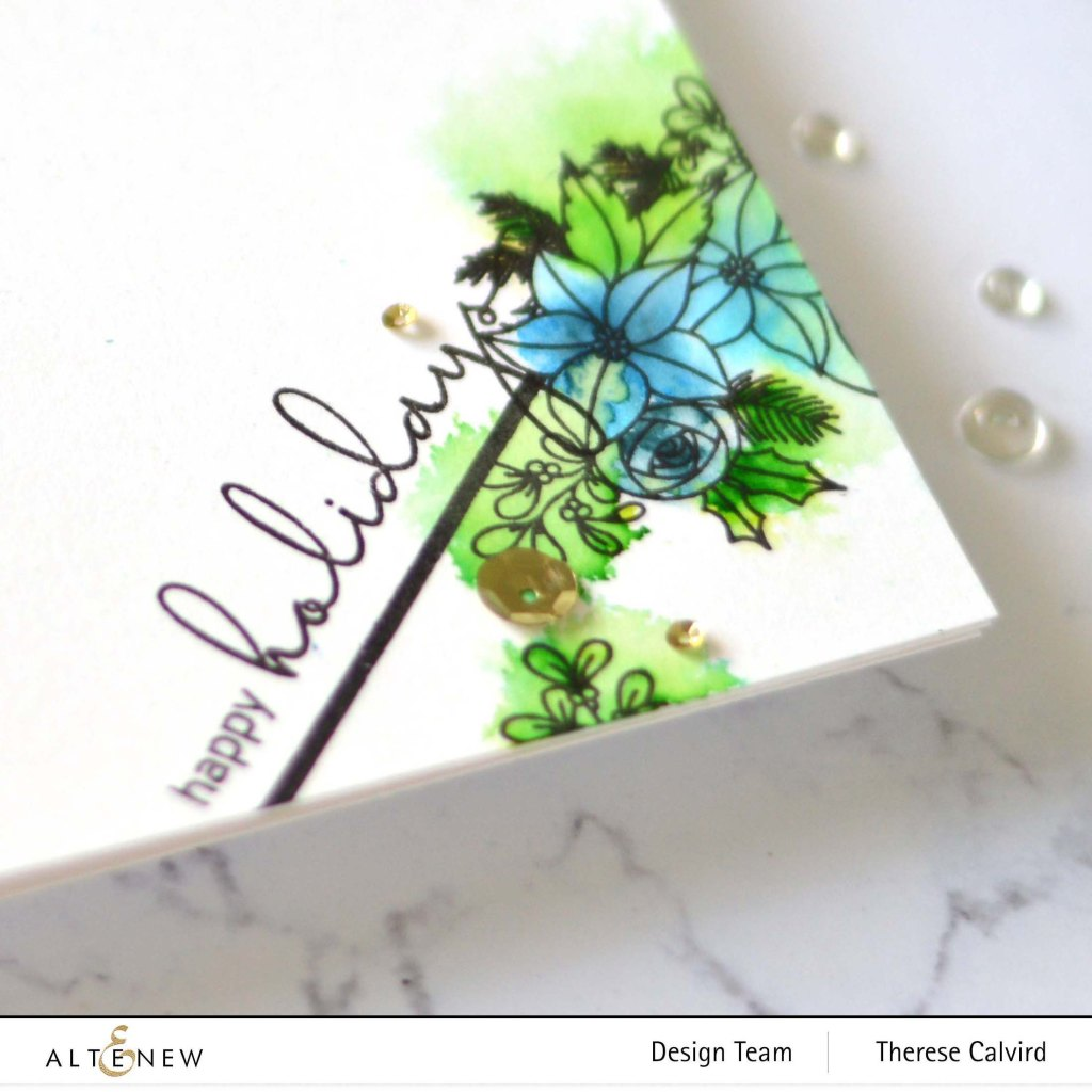 Altenew - Festive Florals - Plentiful Pine - Take 2 With Therese (card video) 1
