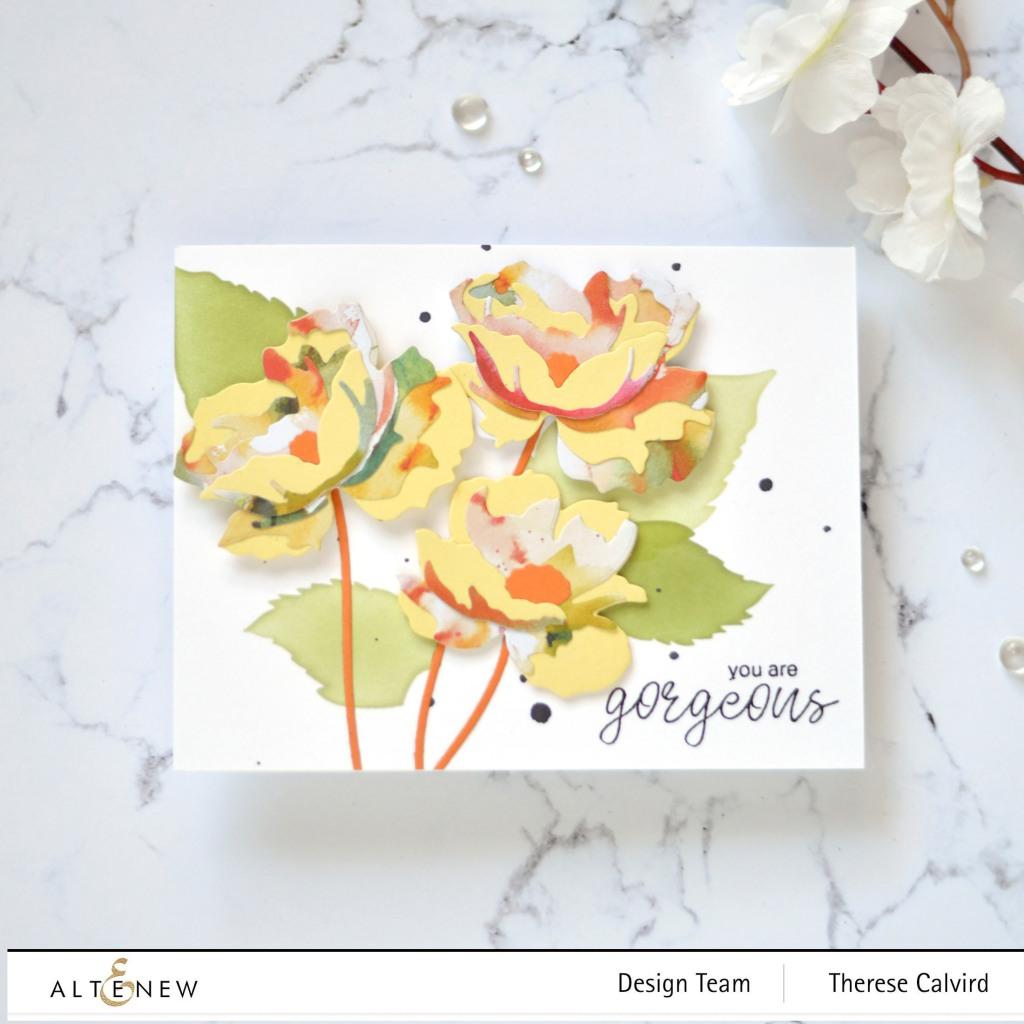 Altenew - Craft-A-Flower - Poppy - Simple Roses (card) 1 copy