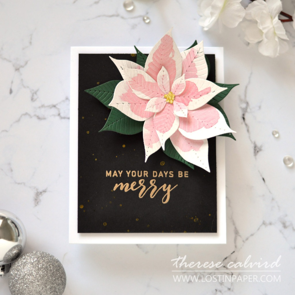 Poinsettias For Christmas 2020 Same But Different Christmas Card Series 2020 – Poinsettias + Video! |