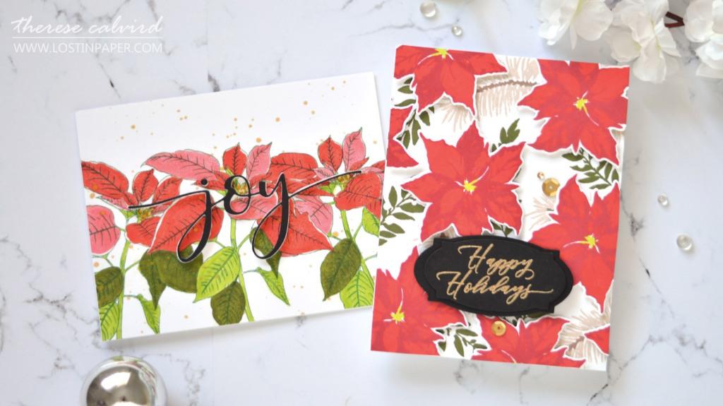 Lostinpaper - Same But Different Christmas Card Series 2020 - No 1 - Poinsettias (card video) (5).jpg