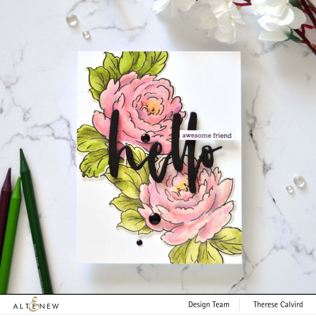 Altenew - Kind Reminders - Celebrate Us - Woodless Watercolor Pencils - Take 2 With Therese (card video) 1