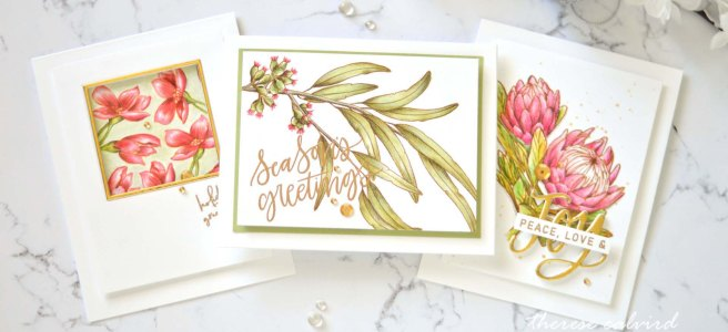 Lostinpaper - Australian Floral Christmas Cards (card video) 2