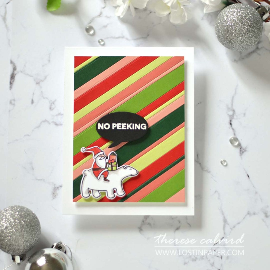 Lostinpaper - Same But Different Christmas Card Series 2020 - Stripes 3