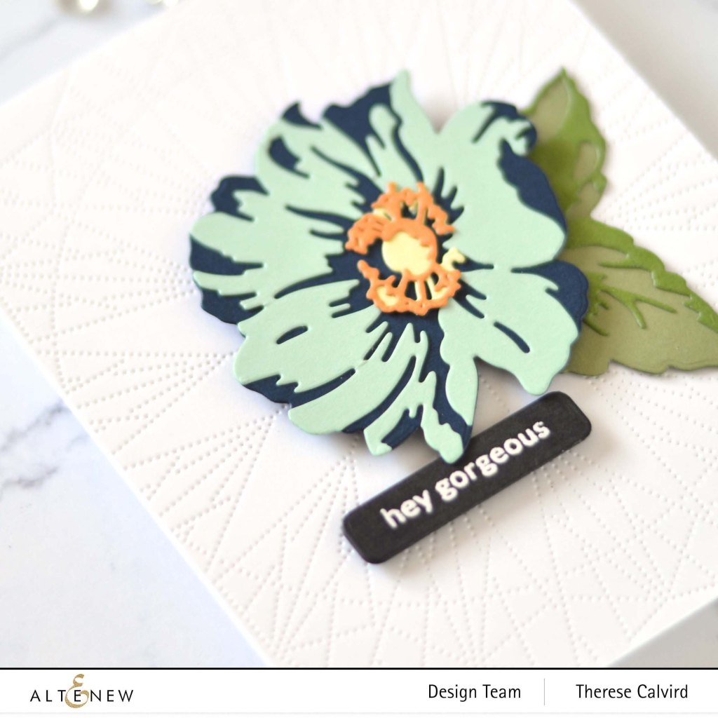 Altenew - Layered Wood flower Die Set - Dotted Lines Debossing Cover Die - Featured Sentiments Die - Delicate Flower Bed 1 copy