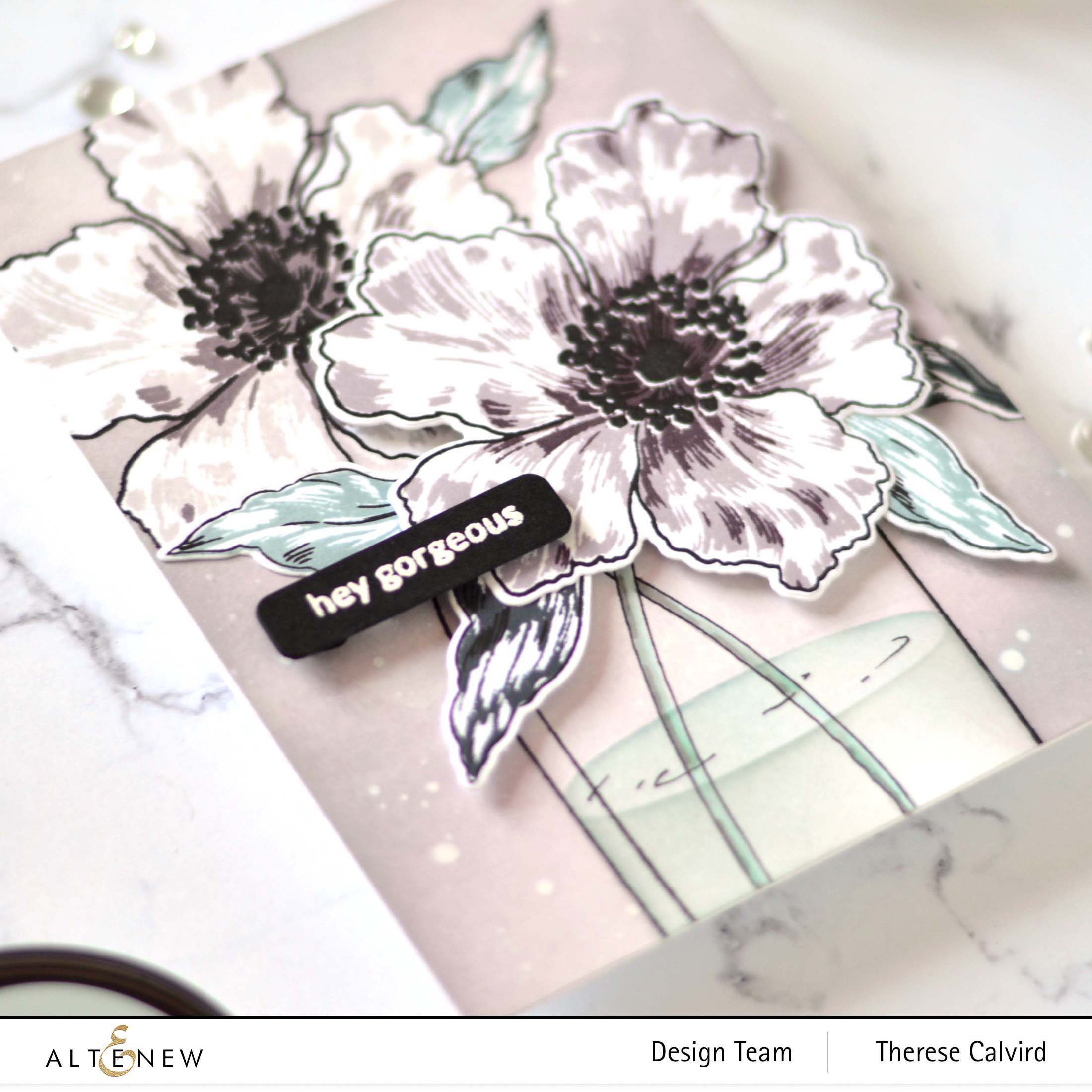 Altenew - Versatile Vases 2 - Sparkled - Featured Sentiments - Delicate Flower Bed - Take 2 With Therese video 2 copy