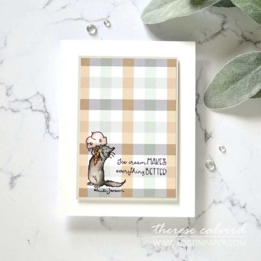 Lostinpaper - Ice Cream Day - Colorado Craft company - Prismacolor Pencils on Design Paper (card video) 1
