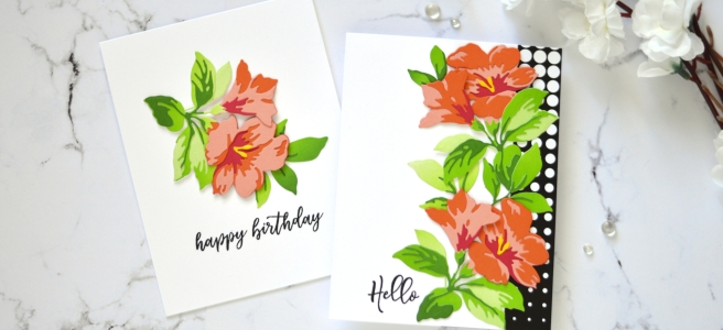 Altenew - Climber Flowers Die Set - Sincere Greetings - Winter Rose - Take 2 With Therese (card video) 1