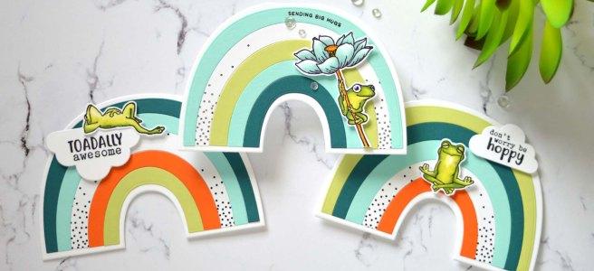 Lostinpaper - Ellen Hutson - Rainbow Card - Hero Arts - Hoppy Day (LIVE card video) (5)