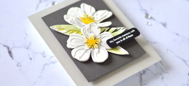 Altenew - Craft-A-Flower - Cistus - Featured Sentiments Die Set (card video) 1