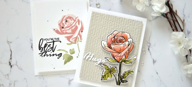 Altenew - Fairy Tale Rose - Organic Linen 3D - Simple Greetings - the Best Thing -Take 2 With Therese (card video) 1
