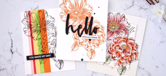 Lostinpaper - Altenew - Vintage Garden - Waterbrush Hello - Ellen Hutson Nice of You - LIVE Video 1 - Copy